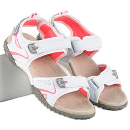 American Club Sportowe sandały american białe 1