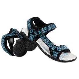 American Club Tekstylne sandały na rzep american niebieskie 1