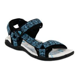 American Club Tekstylne sandały na rzep american niebieskie 3