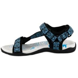 American Club Tekstylne sandały na rzep american niebieskie 4