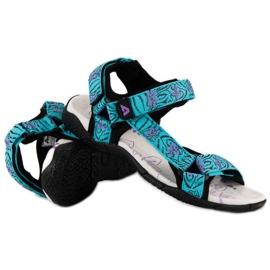 American Club Tekstylne Sandały Na Rzep American niebieskie 2