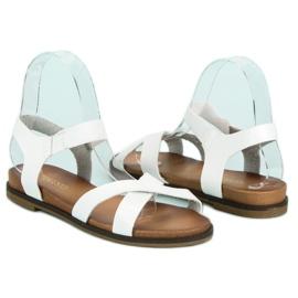 Nio Nio Białe sandały damskie 1