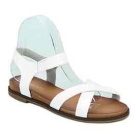 Nio Nio Białe sandały damskie 2