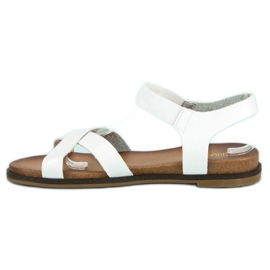 Nio Nio Białe sandały damskie 3