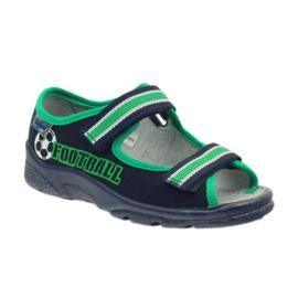 Sandałki chłopięce Befado 969x078 granatowe zielone 1