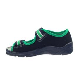 Sandałki chłopięce Befado 969x078 granatowe zielone 2
