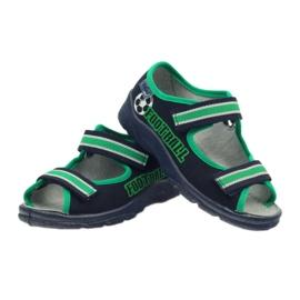 Sandałki chłopięce Befado 969x078 granatowe zielone 3