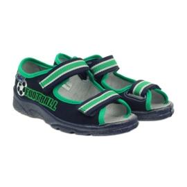 Sandałki chłopięce Befado 969x078 granatowe zielone 4