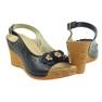 Granatowe Sandały Na Koturnie Gregors 648 zdjęcie 3