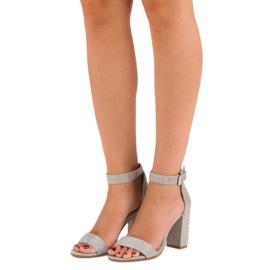 Marquiz Szare sandały damskie 1