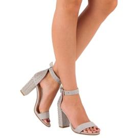 Marquiz Szare sandały damskie 2