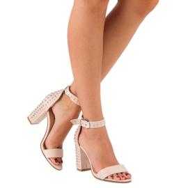 Marquiz Beżowe sandały damskie beżowy 2