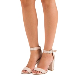 Marquiz Beżowe sandały damskie beżowy 1