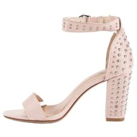 Marquiz Beżowe sandały damskie beżowy 3