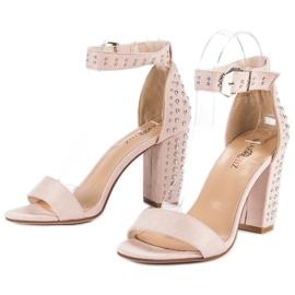 Marquiz Beżowe sandały damskie beżowy 4
