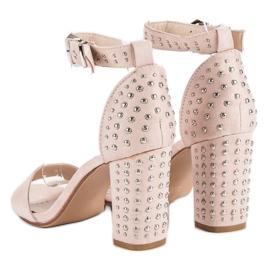 Marquiz Beżowe sandały damskie beżowy 5