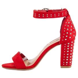 Marquiz Czerwone sandały damskie 3