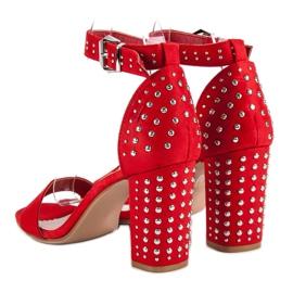 Marquiz Czerwone sandały damskie 4