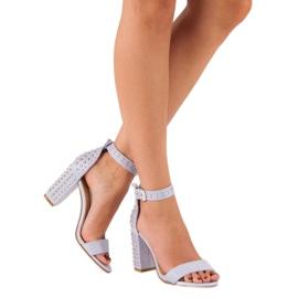 Marquiz Fioletowe sandały damskie 2