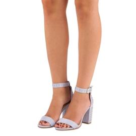 Marquiz Fioletowe sandały damskie 1