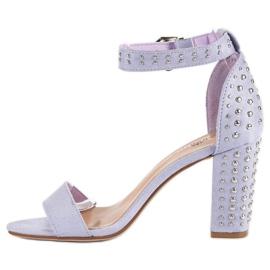 Marquiz Fioletowe sandały damskie 3