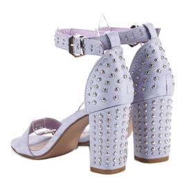 Marquiz Fioletowe sandały damskie 4