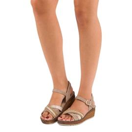 Casualowe sandały vinceza brązowe 1