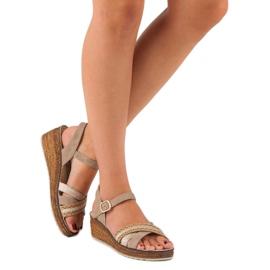 Casualowe sandały vinceza brązowe 2