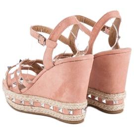 Seastar Zamszowe sandały espadryle różowe 4