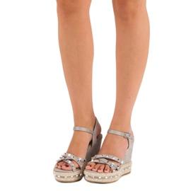 Seastar Zamszowe sandały espadryle szare 1