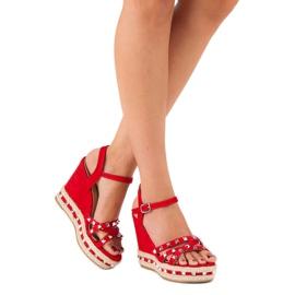 Seastar Zamszowe sandały espadryle czerwone 2