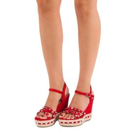 Seastar Zamszowe sandały espadryle czerwone 1