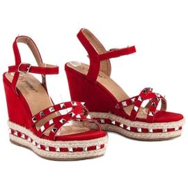 Seastar Zamszowe sandały espadryle czerwone 5