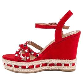 Seastar Zamszowe sandały espadryle czerwone 3