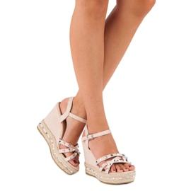 Seastar Zamszowe sandały espadryle różowe 2