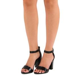 Sandały Na Obcasie VINCEZA czarne 1
