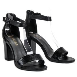 Sandały Na Obcasie VINCEZA czarne 5