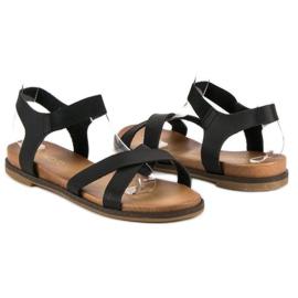 Nio Nio Czarne sandały damskie 3