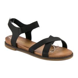 Nio Nio Czarne sandały damskie 1