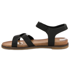 Nio Nio Czarne sandały damskie 2