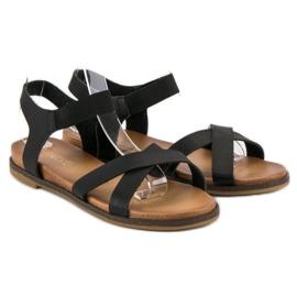 Nio Nio Czarne sandały damskie 4
