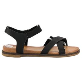 Nio Nio Czarne sandały damskie 5