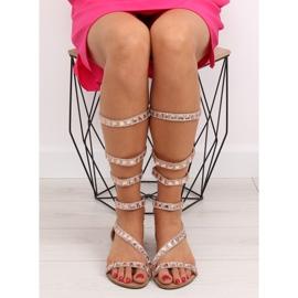 Sandałki gladiatorki rzymianki różowe JL59 Champagne 3