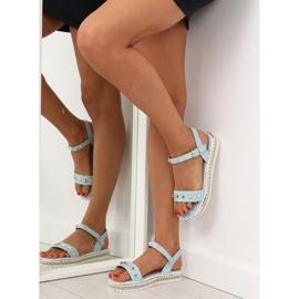 Sandałki z ćwiekami niebieskie 35-132 blue 4