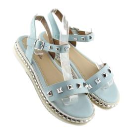 Sandałki z ćwiekami niebieskie 35-132 blue 5