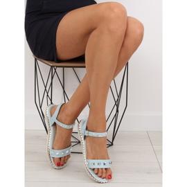 Sandałki z ćwiekami niebieskie 35-132 blue 1