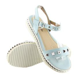 Sandałki z ćwiekami niebieskie 35-132 blue 2