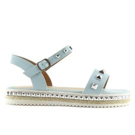 Sandałki z ćwiekami niebieskie 35-132 blue 6