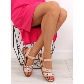 Sandałki na płaskiej podeszwie różowe 99-19 Pink 5