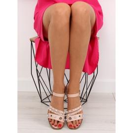Sandałki na płaskiej podeszwie różowe 99-19 Pink 2